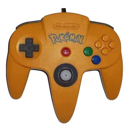 N64 Handkontroll Pokémon Edition Gul/Blå beg