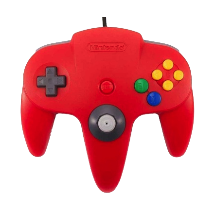 Nintendo 64 Handkontroll Röd/Red beg original